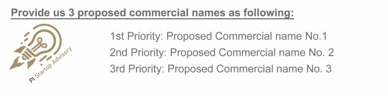 commercial name reservation in bahrain